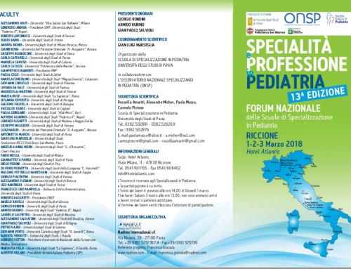 """13° Edizione """"Specialità e Professione in Pediatria"""""""