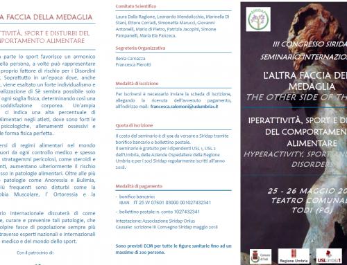 III Congresso SIRIDAP – L'altra Faccia della Medaglia