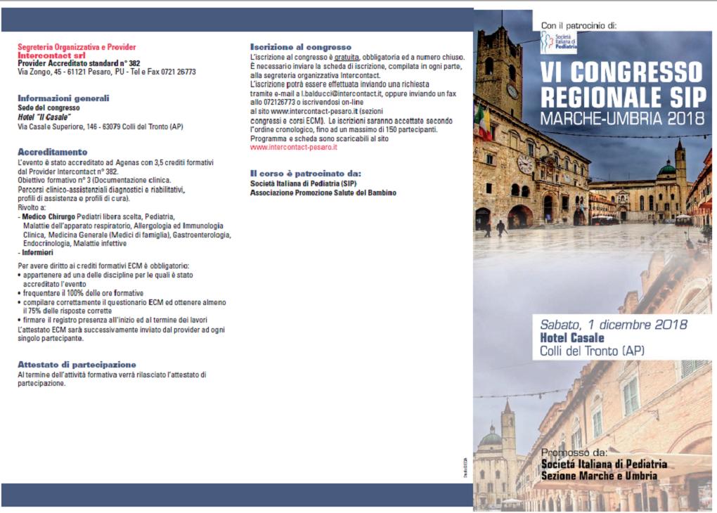 VI Congresso Regionale SIP